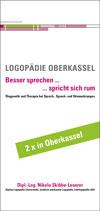 Bild des Flyers Logopädie Oberkassel